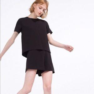 Zara Trafaluc Collection Black Layered Romper